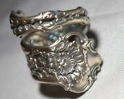 Whiting / Gorham 1896 Dresden 1901 Antique Sterling Floral Spoon Ring Sz 7