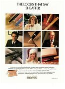 1986 Sheaffer Looks That Say Fountain Pens Vintage Print Advertisement