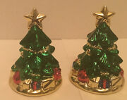 Christmas Tree Salt And Pepper Shakers- Merry Holiday