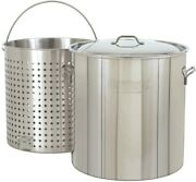 Bayou Classic 1102 102-qt. Stainless Steel Stockpot With Boil Basket Pack Of...