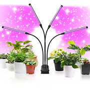 Cly Led Grow Light 90w 120 Leds 4 Head Timing Dimmable Levels Plant Grow Lights