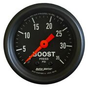 Autometer 2616 Z-series 2-1/16 Mechanical Boost Gauge 0-35 Psi Turbo Blower