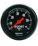Autometer 2617 Z-series 2-1/16 52mm Mechanical Boost Gauge 0-60 Psi Turbo
