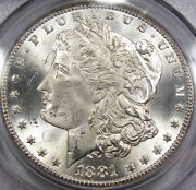 1881-cc Morgan Silver Dollar Pcgs Ms-64...old Pcgs Holder Extremely Nice