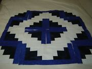 16 Log Cabin Quilt Top Blocks Squares Cotton Fabric Lot Sewn 9 Inch Craft New