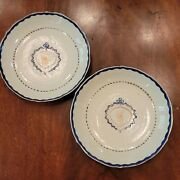Pair Of Chinese Export American Market Saucer Dishes 1780