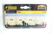 N Scale Scenecraft Pigs Assorted With Trough Animal Figures 342