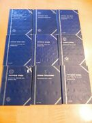 Whitman Coin Albums/books Empty Varying Coins Cents Dimes Nickels Quarters