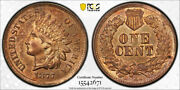 1877 1c Indian Head Cent Pcgs Ms 63 Rb Uncirculated Red Brown Key Date Nice