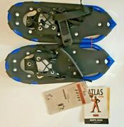 Atlas Snow Shoe Company Junior/youth Blue And Black 16andrdquo Aluminum Snowshoes New