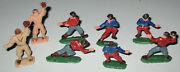 Unknown Maker 1960s Hard Plastic Football And Baseball Players