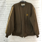 G A Rivers Mens Brown Solid Ups Thinsulate Lite Loft Full Zip Bomber Jacket Xl