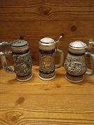Handcraft Brazil Beer Mugs Orient Express,trout And Ford Model T Collection.