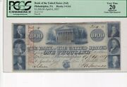 Us 1837 1.000 Dollars Pcgs Vf 20 Bank Of The United States Very Rare