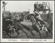 The Mighty Crusaders '60 Soldiers On Horses Outside A Fort