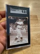 Babe Ruth Sgc 9.5 Leaf Card Great Bambino New York Yankees 71 Collector 2016