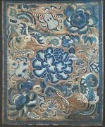 Rank Badge Qing Dynasty 19th Century Antique Chinese Silk Embroidered