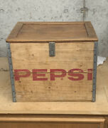 Vintage Wooden Pepsi Cola Crate With Lid Rare Great Condition -springfield Mo