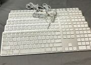 Lot Of 5 Apple A1243 Wired Thin Aluminum Keyboard Emc 2171