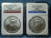 2011 2011 W Proof Silver Eagles 25th Anniversary Ngc Pf70 Early Releases