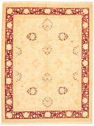 Vintage Geometric Hand-knotted Carpet 9and0390 X 11and0399 Traditional Wool Area Rug