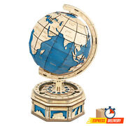 Wooden 3d Earth Global Model Puzzle 567 Pcs New Kids Large Gift Toy Home Decor