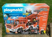 2018 Playmobil City Action Fire Engine New Old Stock • 9464 • Made In Germany