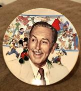 Walt Disneyand039s 85th Anniversary Picture Plate With Premier Serial