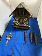 Beautiful Antique Black Forest Cuckoo Clock From West Germany Rare Treasure