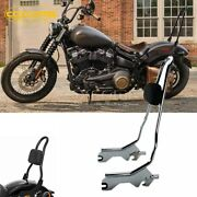 For 2018-2021 Heritage Classic 114 Flhcs Softail 20and039and039 Sissy Bar Backrest Chrome