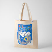 Tokyo 2020 Olympic Official Art Poster Cotton Tote Bag Taku Sato H700xw400mm