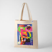 Tokyo 2020 Olympic Official Art Poster Cotton Tote Bag Shinro Ohtake H70xw40cm