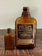 Four Roses Whiskey Bottle Set With Label Spring 1917 Beautiful Embossed Design
