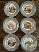 Revolutionary War Plate Set 6 Excellent Condition Pewter And Ceramic