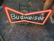 Anheuser-busch Budweiser Beer Classic Bow Tie Neon Light Sign Large 30.5w