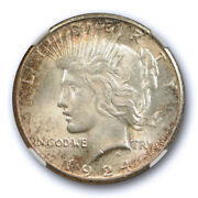 1924 S 1 Peace Dollar Ngc Ms 62 Uncirculated Better Date Original Toned Coin