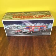 Hess Gasoline Gas And Oil Toy Battery Operated Rescue Fire Truck 2005 In Orig. Box