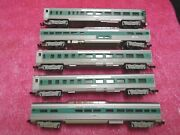 5 Trix N Scale Passenger Cars - Penn Central - Western Germany