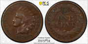 1877 1c Indian Head Cent Pcgs Vf 20 Very Fine Key Date Looks Better Tough G...