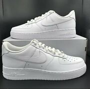 Nike Air Force 1 And03907 Low Triple Menand039s White Cw2288-111 All Sizes New 6.5-15