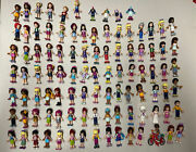 Lego Friends Minifigures Huge Lot 96+ Figures + Animals And Accessories