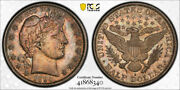 1894 S 50c Barber Half Dollar Pcgs Au 58 About Uncirculated Cac Approved Toned