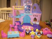 Euc Fisher Price Little People Disney Princess Songs Palace Castle With Figures