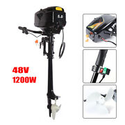 48v 5.0 Hp Electric Outboard Fishing Boat Engine 1200w Long Shaft Brushless Ce