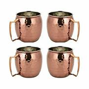 Moscow Mule Mugs Stainless Steel Copper - Set Of 4 Cups Bar Accessories For Drin
