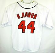 Hank Aaron 44 Hand Signed Autographed Mlb Milwaukee Braves Jersey With Coa
