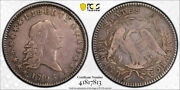 1795 50c Flowing Hair Half Dollar Pcgs Vf 30 A Over E In States Very Fine To...