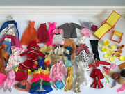 Vintage Barbie Lot Clothes Accessories Fashion Queen Wigs Dishes Camp Furniture