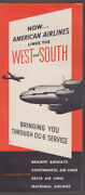 American Airlines Links The West And South With Dc-6 Service Airline Folder 1951