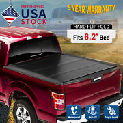 Hard Flip Folding Tonneau Cover For 16-2021 Toyota Tacoma 6and0392and039and039 Bed Low Profile